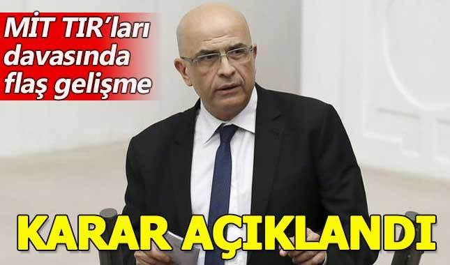 MİT TIR'ları davasında Enis Berberoğlu'na hapis cezası - Enis Berberoğlu kimdir nereli kaç yaşında?