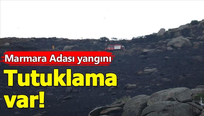 Marmara Adasında çıkan yangınında soruşturma!