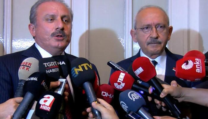 Meclis Başkanı Şentop, Kılıçdaroğlu'yla görüştü