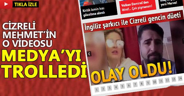 Ünlü İngiliz şarkıcı ile Cizreli Mehmet'in düeti olay oldu