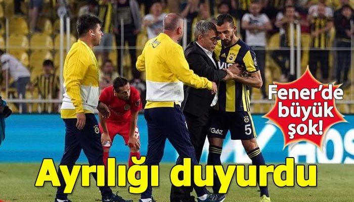 Mehmet Topal Fenerbahçe'ye veda etti
