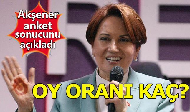 Meral Akşener partisinin oy oranını açıkladı