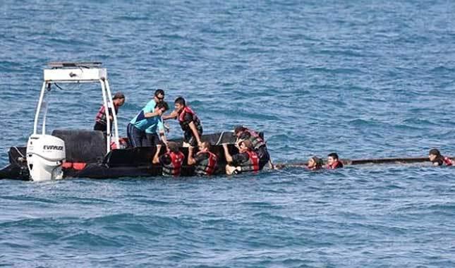 Meriç Nehri'nde facia! Kaçakları taşıyan bot battı