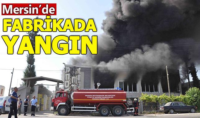 Mersin'de strafor fabrika yandı