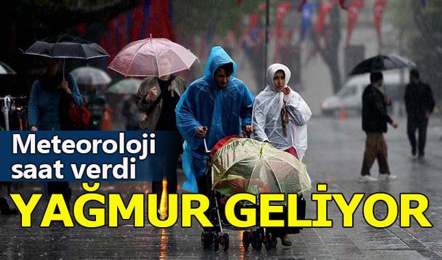 Meteoroloji yağmur için saat verdi (İstanbul hava durumu)