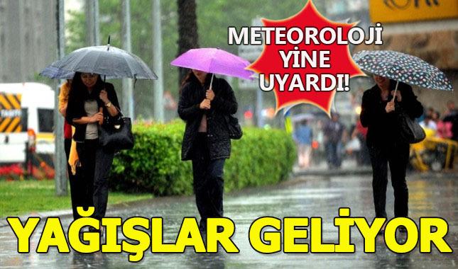 Meteorolojiden yağış uyarısı...