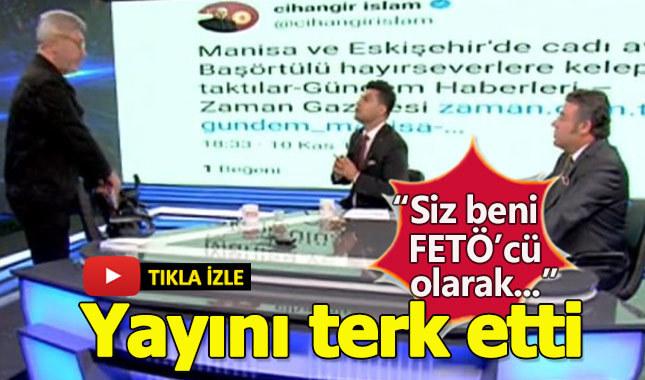 Milletvekili Akit TV'de canlı yayını terk etti