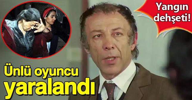 Münir Özkul'un kaldığı apartmanda yangın çıktı