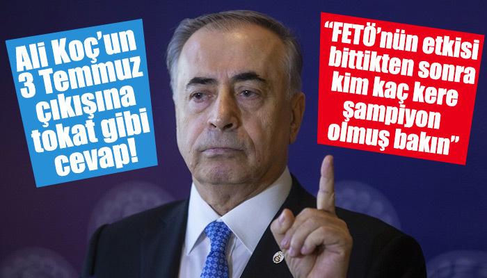 Mustafa Cengiz'den Ali Koç'a FETÖ göndermesi