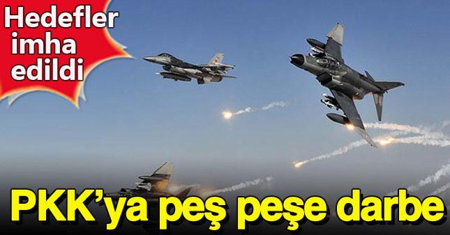 Muş'taki PKK hedeflerine hava harekatı