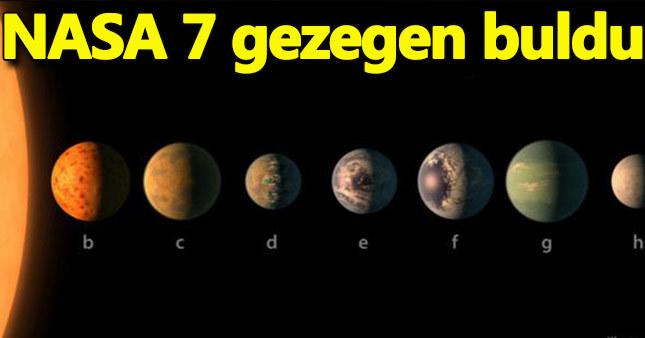 NASA dünya büyüklüğünde 7 gezegen buldu