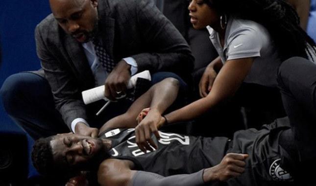 NBA yıldızının bacağı kırıldı