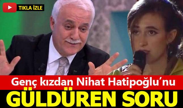 Nihat Hatipoğlu'nu canlı yayında güldüren soru