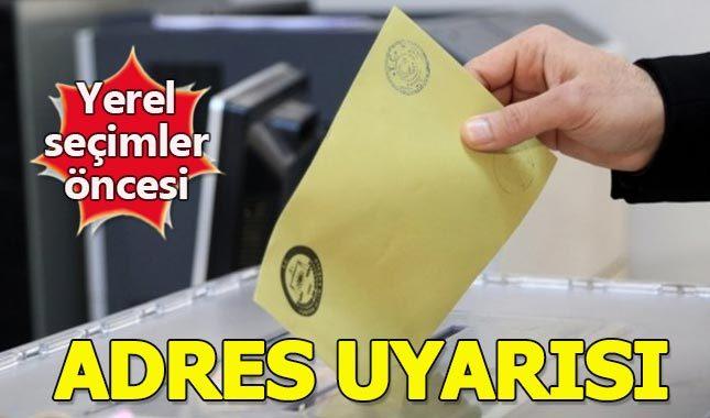 Nüfus Müdürlüğü'nden seçmenlere adres uyarısı