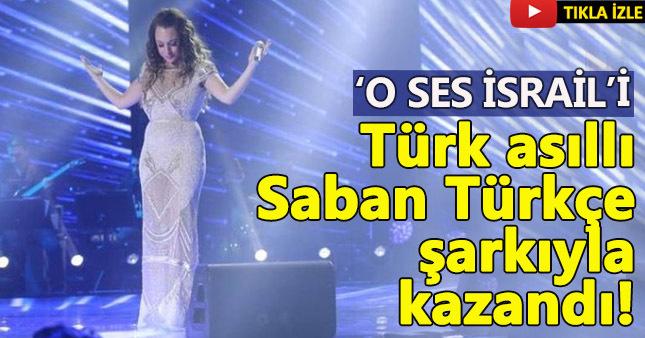 'O Ses İsrail'i Türk asıllı Sapir kazandı