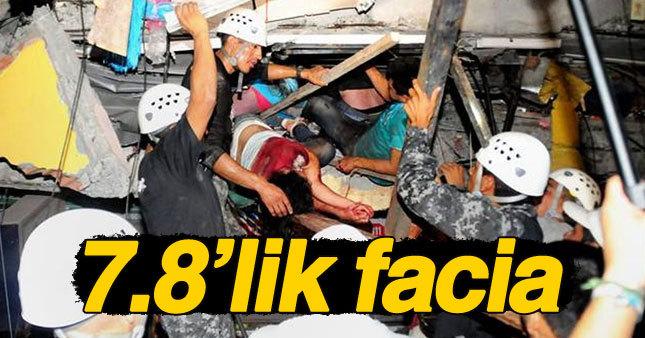 O ülke 7.8'lik depremle sarsıldı