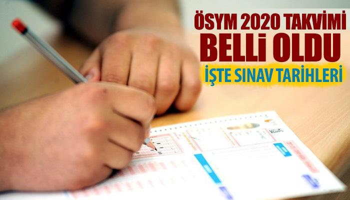 ÖSYM sınav takvimi 2020 | 2020 YKS tarihi | Kpss 2020 ne zaman?