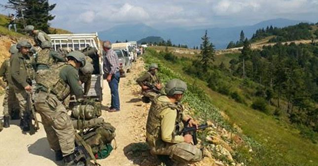 Ordu'da PKK'lılarla çatışma