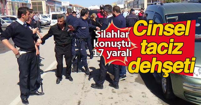 Oto pazarında taciz: Silah, tüfek ve bıçaklar konuştu: 17 yaralı