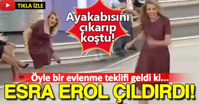 Öyle bir evlenme teklifi etti ki Esra Erol çıldırdı