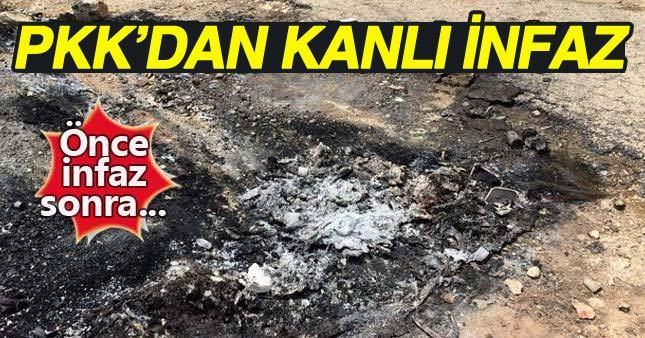 PKK'dan dehşet verici infaz!