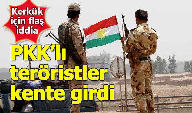 PKK'lı teröristler Kerkük'e girdi iddiası