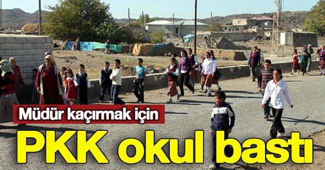 PKK'lı teröristler okul bastı