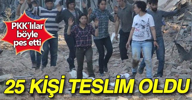 PKK'lılar böyle teslim oldu