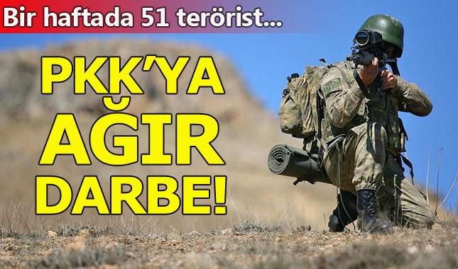 PKK'ya ağır darbe: 58 terörist etkisiz hale getirildi