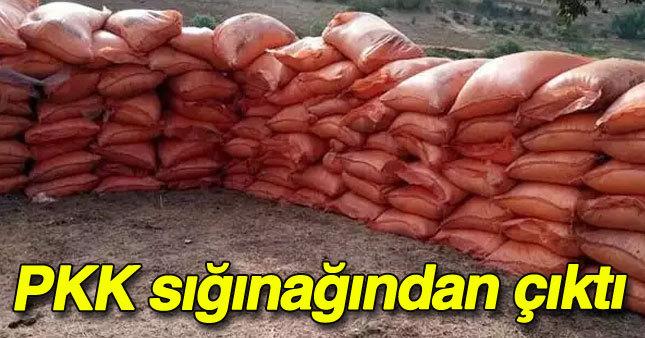 PKK'ya ait sığınakta 7 ton patlayıcı...