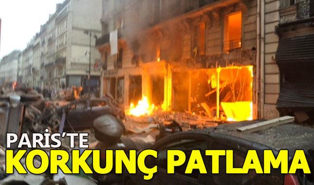 Paris'te büyük bir patlama meydana geldi