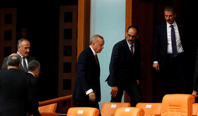 Pervin Buldan anons edildi, Erdoğan Meclis'i terk etti