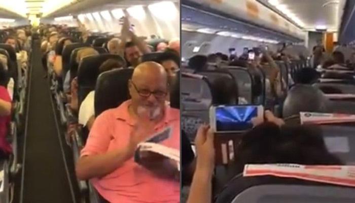 Pilotun anonsu yolcuları coşturdu