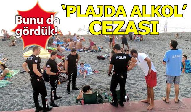 Plajda bira içen 2 doktora idari para cezası