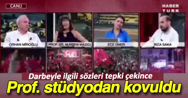 Prof. Dr. Nurşen Mazıcı canlı yayından kovuldu