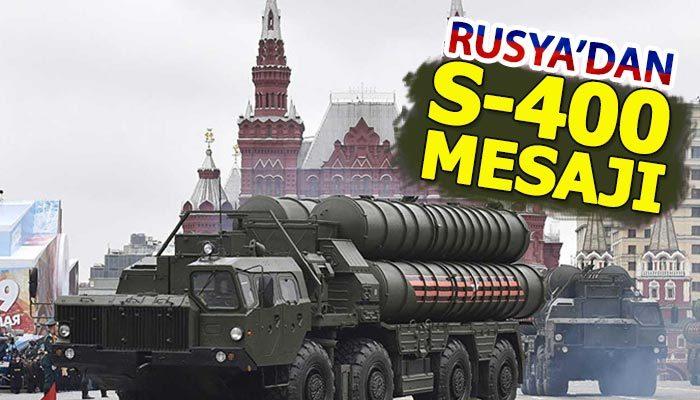 Rusya'dan S-400 teslimatı açıklaması