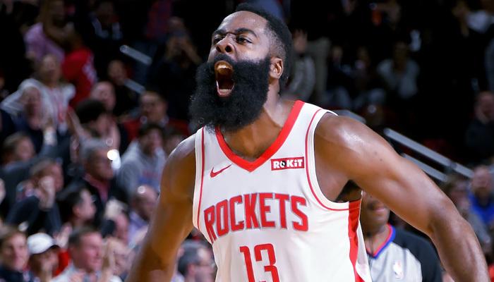 """Sakallı"" coştu Houston Rockets kazandı"