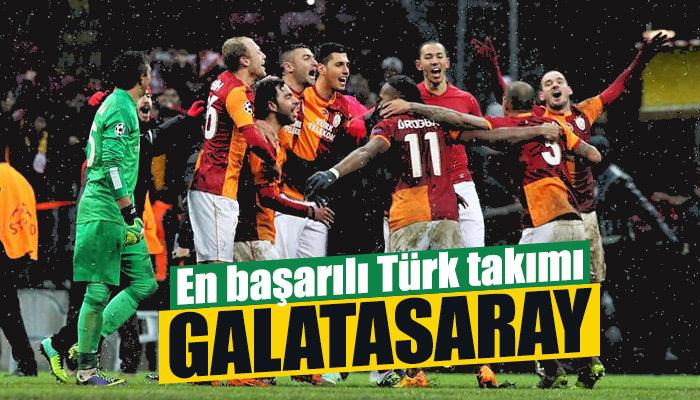 Şampiyonlar Ligi'nde en başarılı Türk takımı Galatasaray