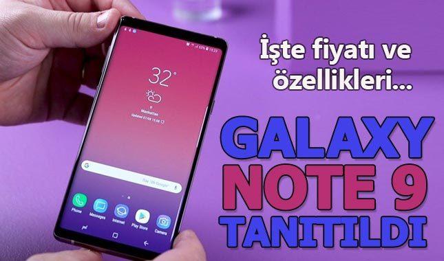 Samsung Galaxy Note 9 özellikleri nelerdir Türkiye fiyatı ne kadar ne zaman satışa çıkacak?