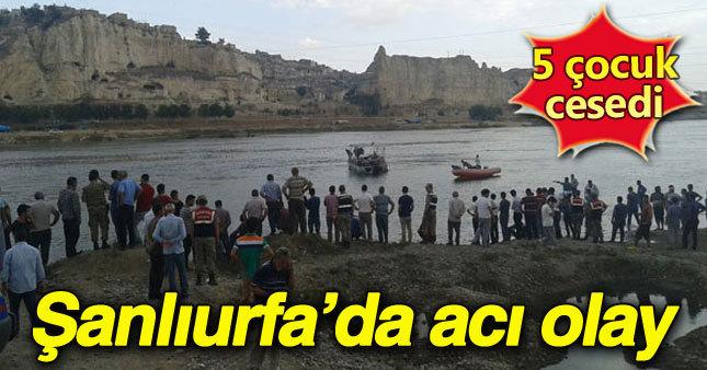 Şanlıurfa'da 5 çocuk boğuldu