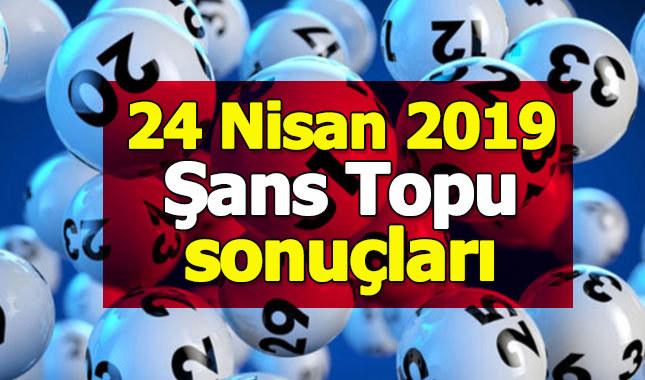 Şans Topu sonuçları 24 Nisan 2019   bugünkü şans topu sonuçları   şans topu neticeleri MPİ