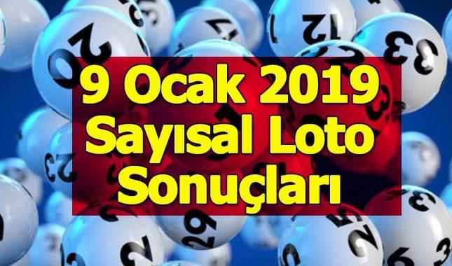 Sayısal Loto çekiliş sonuçları 9 Ocak 2019 - Milli Piyango İdaresi ikramiye tutarı çıkan sayılar