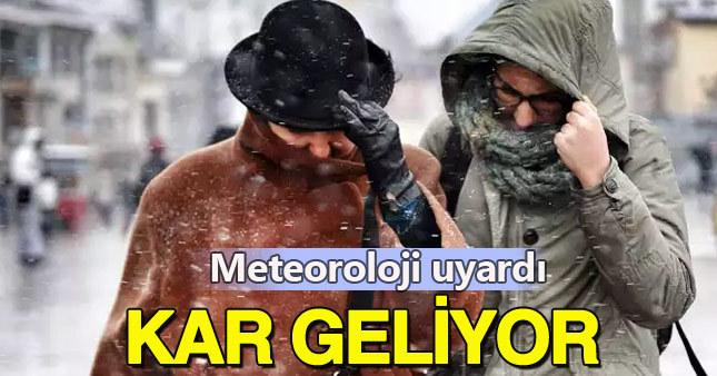 Sıcaklık düşüyor, kar geliyor