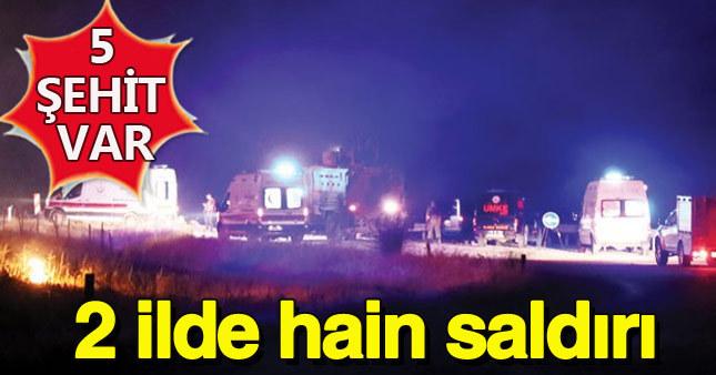Siirt ve Hakkari'de kalleş saldırı: 5 şehit