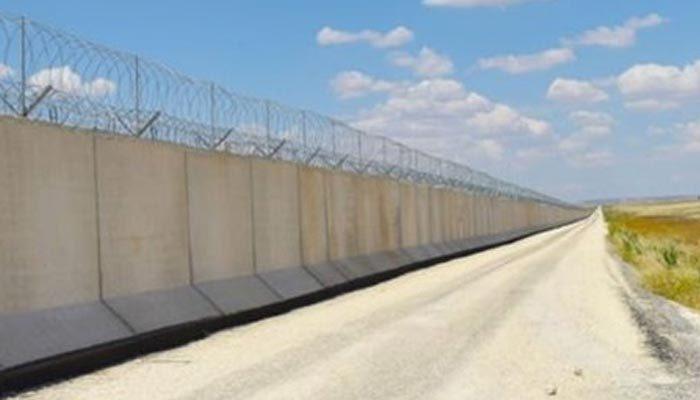 Sınıra örülen duvarın büyük kısmı tamamlandı