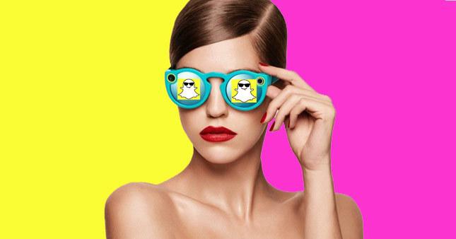 Snapchat kameralı gözlük icat etti