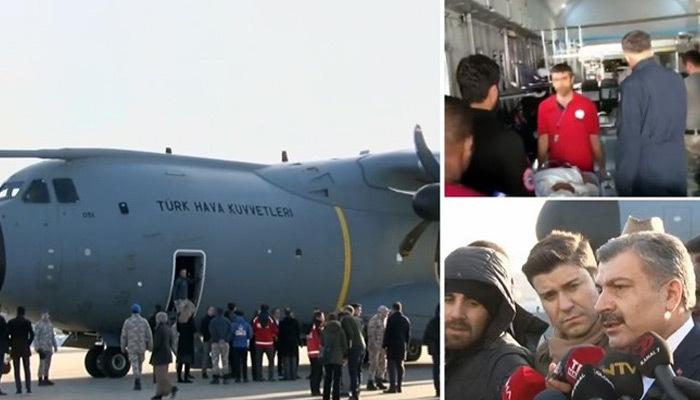 Somali'de yaralanan 10 kişi Türkiye'ye getirildi