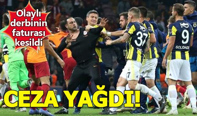 Olaylı Galatasaray Fenerbahçe maçının cezaları belli oldu kime hangi oyunculara ne kadar ceza kesildi