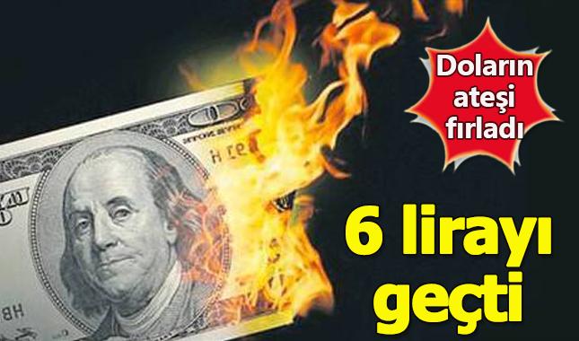 Son dakika: Doların ateşi fırladı! 6.30 oldu