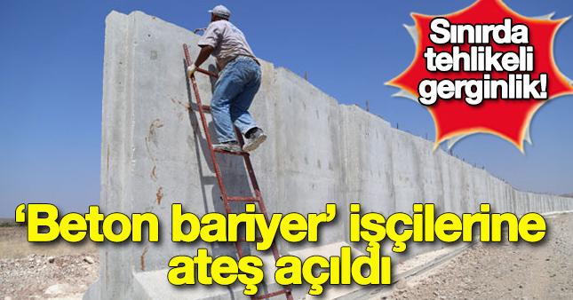 Suriye sınırında beton bariyer gerginliği